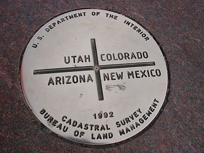 Have you ever stood in four states simultaneously?  Well I have and it's pretty easy if you visit Four Corners Monument.  It's the only spot in the U.S. where four states meet at one point : )