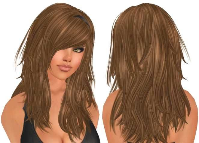 long hairstyles with lots of layers and side bangs http://