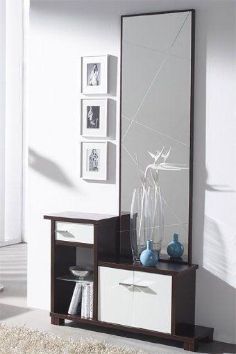 Le presentamos este estupendo recibidor en un estilo moderno y actual, que dará un toque elegante a su hogar.Se compone por espejo con un original diseño, y por taquillón con cajón que le permitirá almacenar todo lo que necesite.Disponible en wengué y hueso.