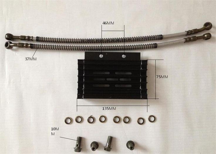 new black Oil Cooling Radiator cooler for 110cc 125cc Engine moto atv motorcycle dirt pit bike parts