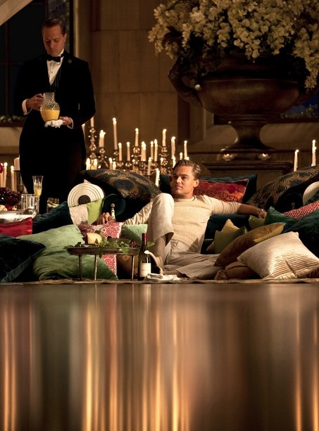 I really love the idea of a sitting area of pillows like Jay Gatsby has