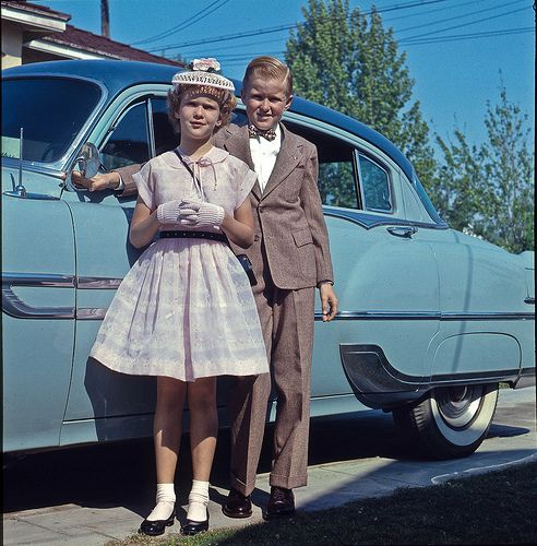 Ready for church circa 1956