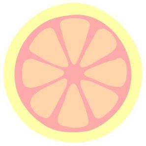 Pink Lemon Slice Clip Art