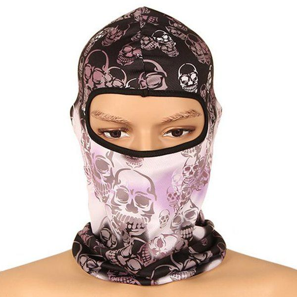 High Quality Multi-Function Skull Pattern Windproof Cycling Equipment Full Face Neck Mask Hood Hat