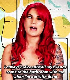 Girl Code MTV Quotes | buddy system! we dont know what kind of crazy people lurk by bathrooms to attack us!