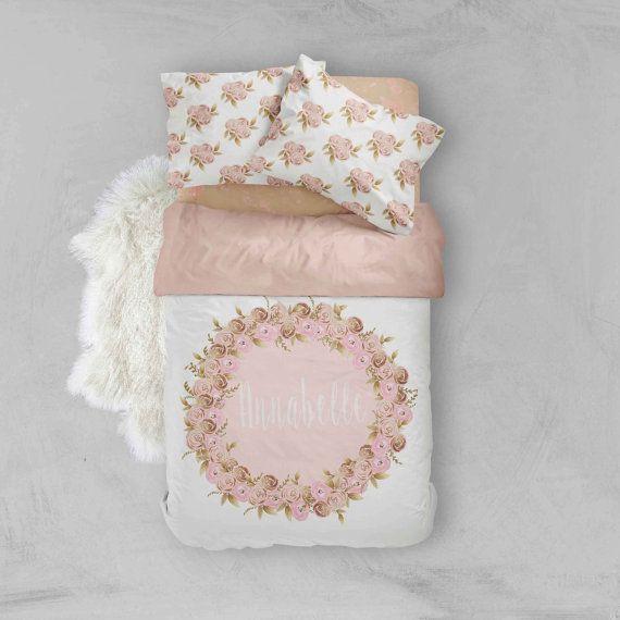 Toddler Bedding Sets  Gold Glitz & Pink Flower   Toddler