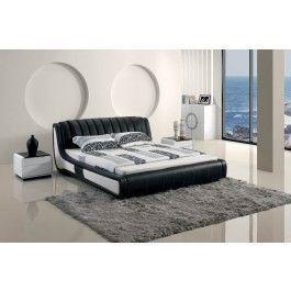 Modern Black Tufted Leatherette bed  - #furniture #bedroom #LAfurniture #LAfurnitureStore #Furnituredesign #HomeDecor #bed #bedroom #modernbed #Platformbed #Leatherettebed