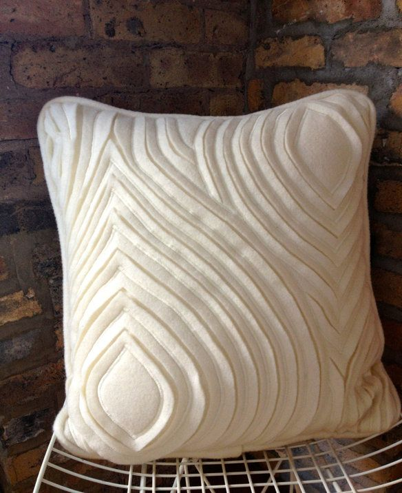 Hand Cut Wool Pillow (Fabric Manipulation) in Near West Side, Chicago ~ Apartment Therapy Classifieds
