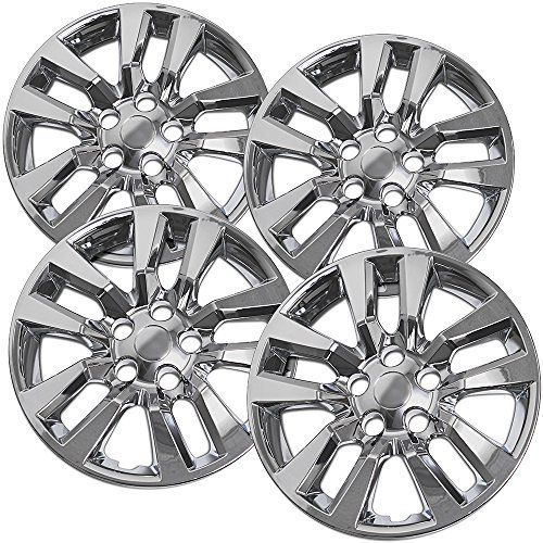 Hubcaps for Nissan Altima (Pack of 4) Wheel Covers - 16 inch, Snap On, Silver - Replace your old, broken or missing wheel cover, simply a snap to install. Don't be a road hazard with your loose wheel covers and instantly upgrade. Whether bolt-on, clip-on or dual retention, OxGord Wheel Covers and Accessories are designed and made of heat and impact resistant materials which ...