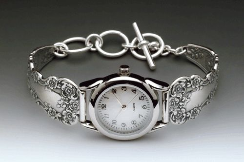 Silver Spoon Jewelry ® : Vintage Spoon and Fork Demitasse Jewelry: Lady Helen Spoon Watch