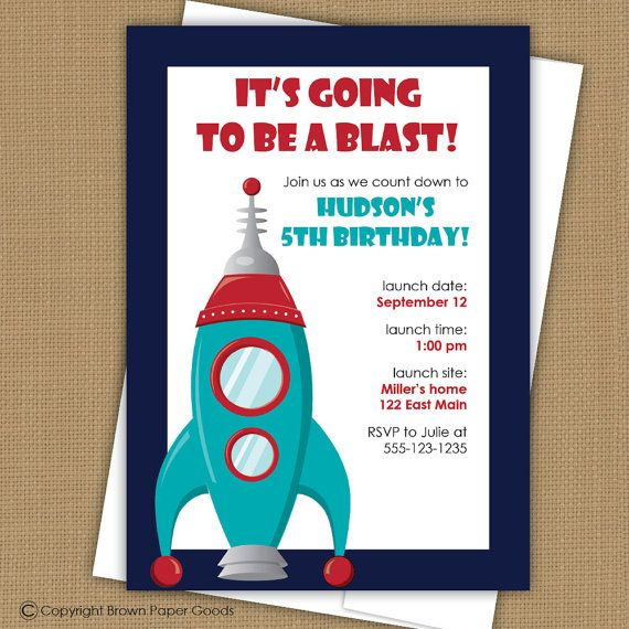 38 best Space Invitation images on Pinterest Birthday invitations
