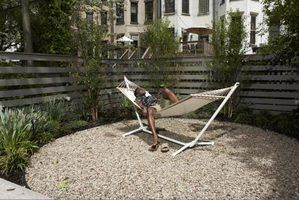 Use a hammock stand on a level surface.
