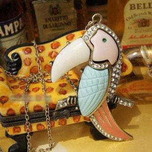 Toucan Bird Rhinestone Long Necklace http://nyfashionstar.com/new-arrivals/toucan-bird-rhinestone-long-necklace.html