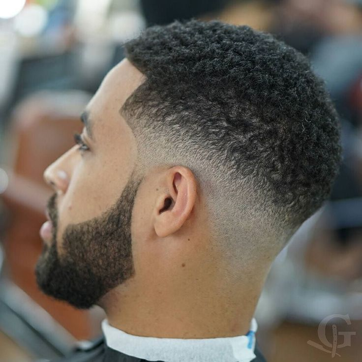 Taper fade haircut styles for black men photo