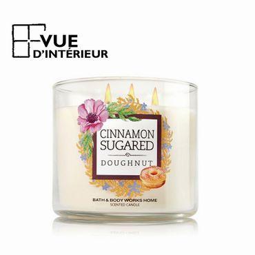 Achat Bougie Parfumée Cinnamon Sugared Donut 3 Mèche 411Gr Bath And Bodyworks à petits prix sur vuedinterieur.be.