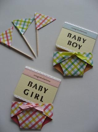 New baby! Message cards.