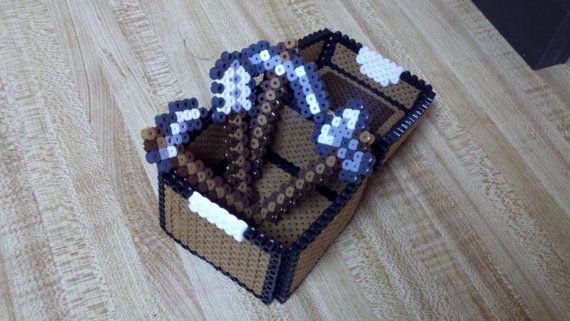 Minecraft tool set. Very cool project for the devout Minecraft fan.  Find more cool teen program ideas at www.the4yablog.com