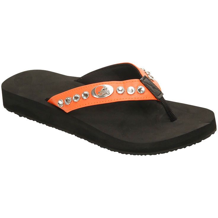 Cleveland Browns Women's Bling Flip Flops - $23.99