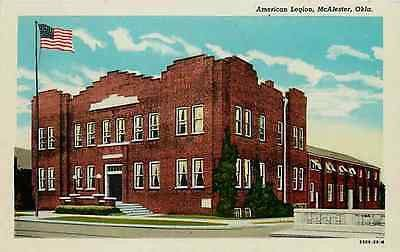 McAlester Oklahoma OK 1929 American Legion Collectible Antique Vintage Postcard McAlester Oklahoma OK 1929 American Legion Hall. Unused Curteich collectible antique vintage postcard in excellent condi