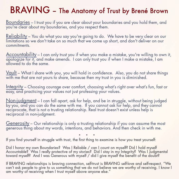 BRAVING - The Anatomy of Trust by Brene Brown