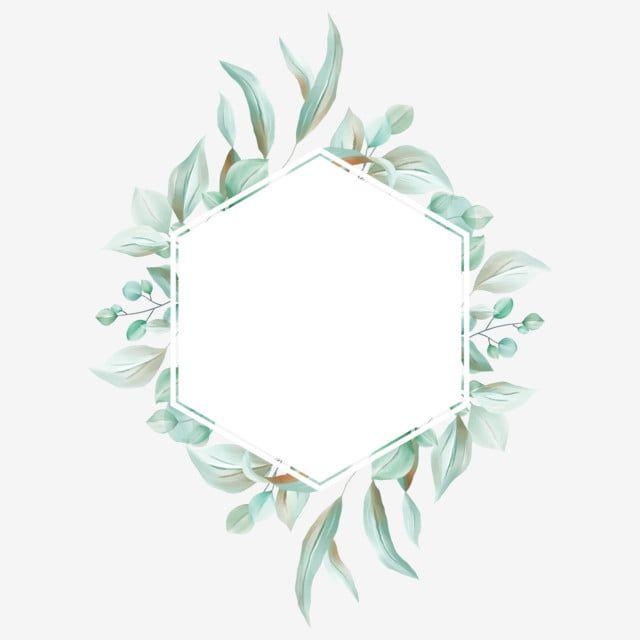 bingkai bunga hijau yang elegan dengan eucalyptus dan daun liar png dan psd di 2020 bingkai cat air bunga eucalyptus dan daun liar png dan psd