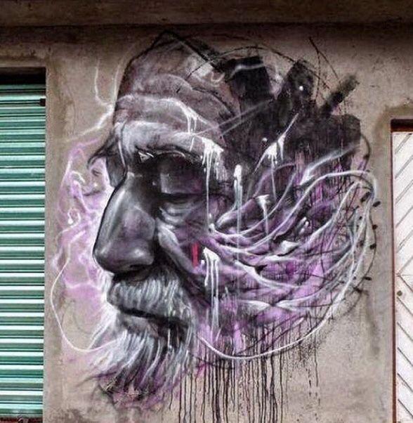 Obra creada por el artista  Farid Rueda en mural en  México