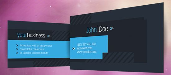 40 Colorful Free Business Card Templates for Your Inspirations