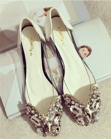 Women shoes 2014 New Korean Style Luxury Mosaic Flat Shoes Bling Low-Cut Uppers Women Sandals