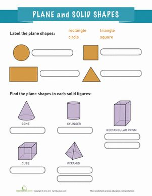 plane and solid shapes shape geometry and planes. Black Bedroom Furniture Sets. Home Design Ideas