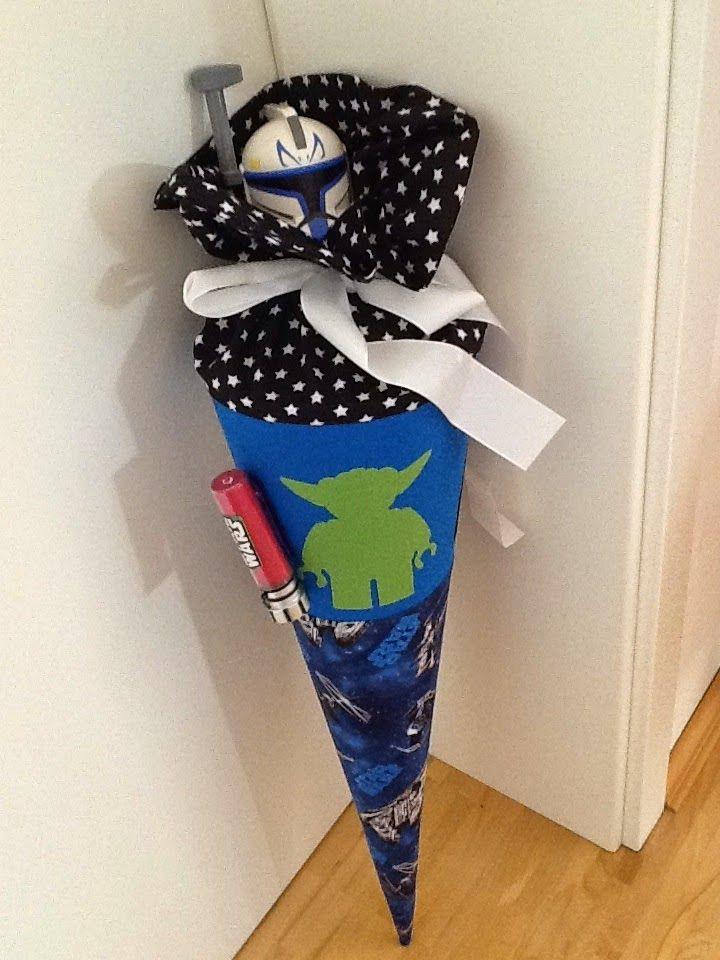 Unsere kleine bunte Welt: Eine Schultüte nähen für den Star-Wars-Fan...