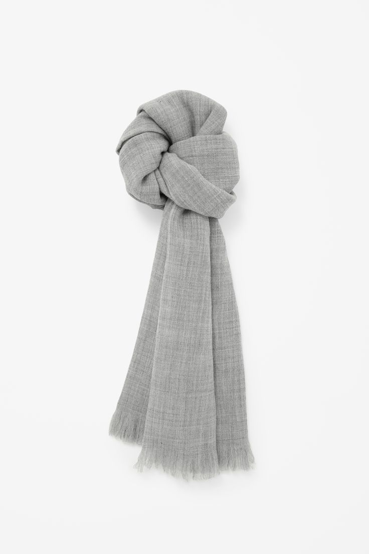 Wool melange scarf