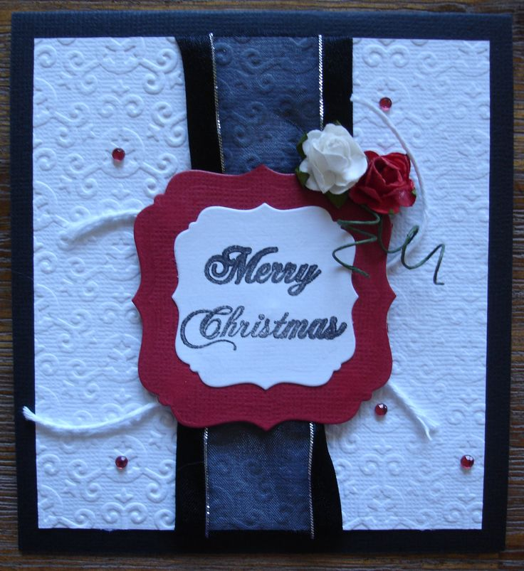 Christmas card from a 'DIY' card kit found at www.wholelottahappy.com.au