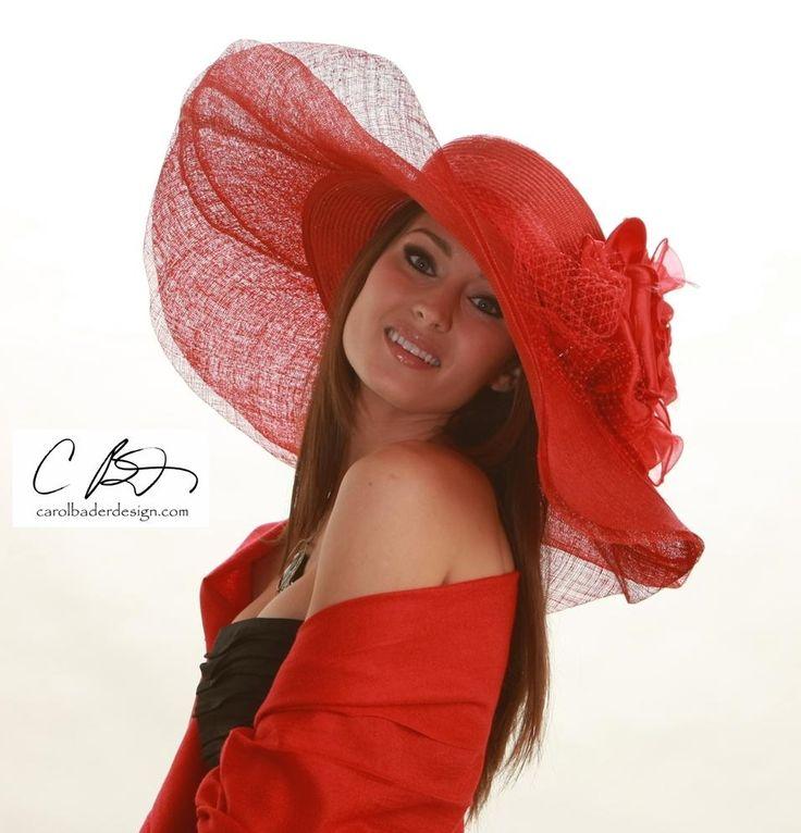 Pretty red romantic hat
