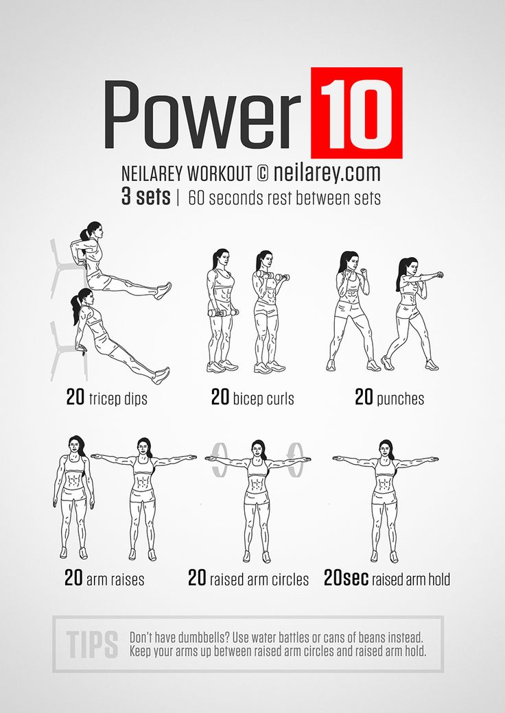Power 10: Strong, toned arms workout. | Neila Rey ...