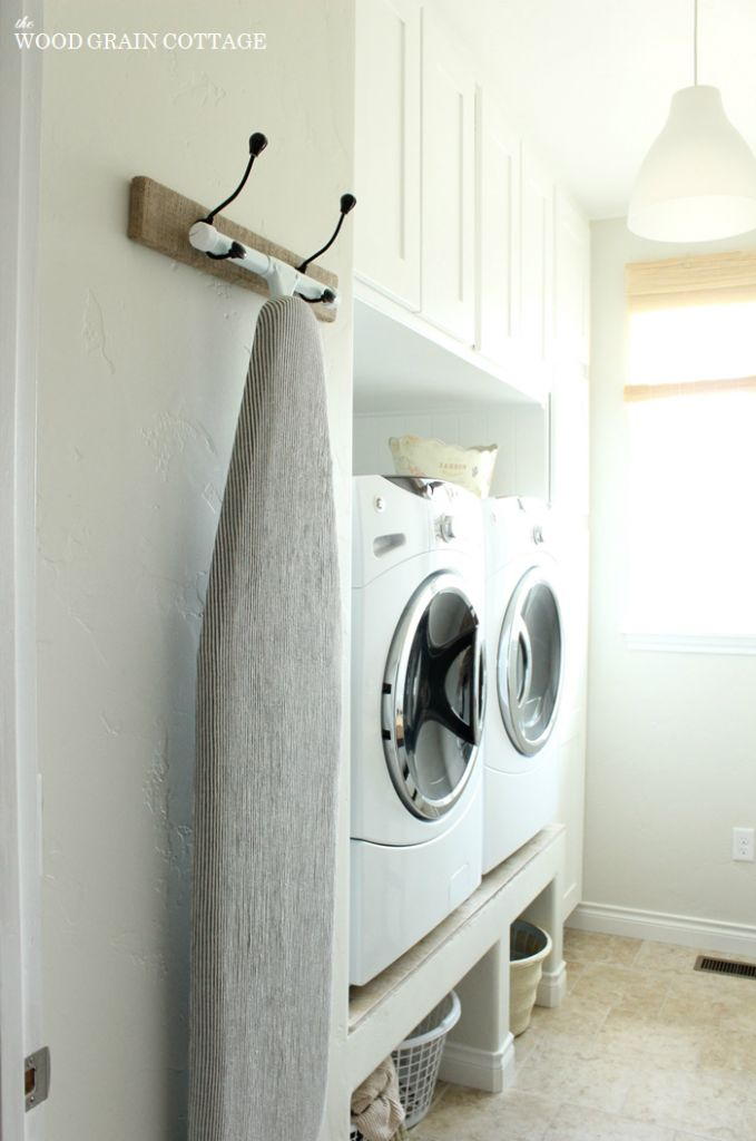 Hanging Ironing Board Rack   The Wood Grain Cottage (HoH149)