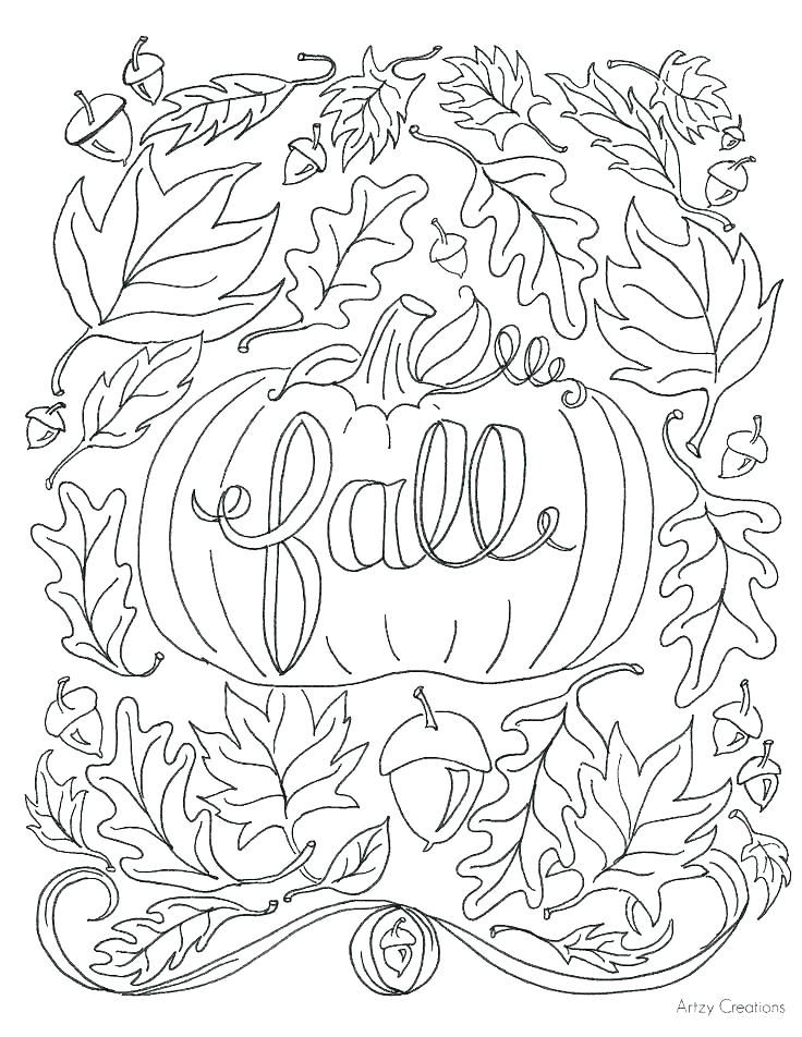 preschool fall coloring pages autumn leaves sheet fall ...