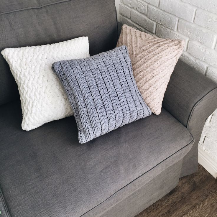 KNITTED DECORATIVE PILLOW cozy and soft handmade by flavourknit on Etsy