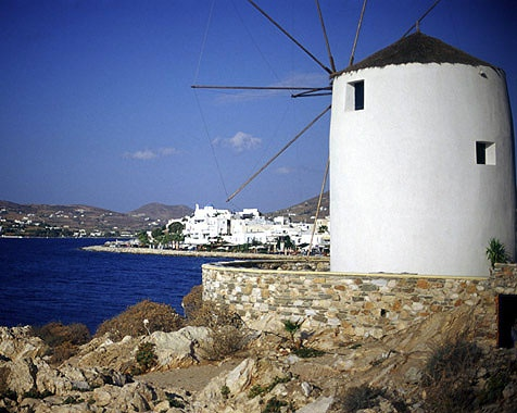 A windmill in Paros