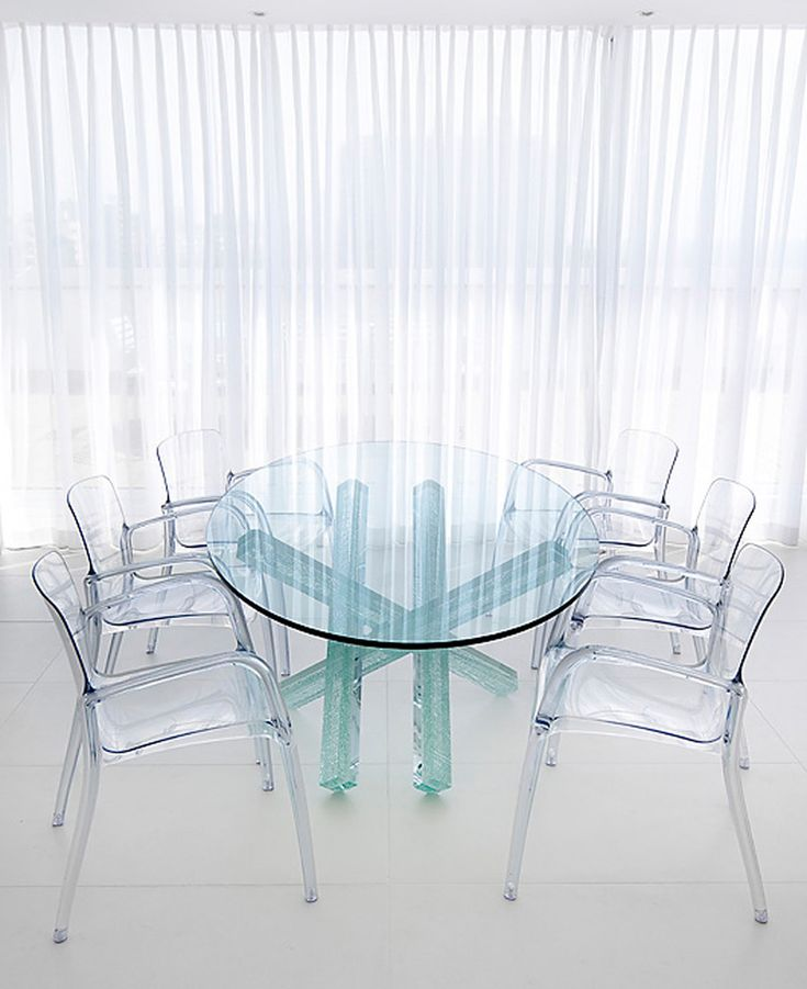 Glass Dining Chairs: 42 Best Transparent Furniture Images On Pinterest