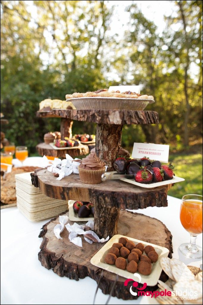 3 tier log platter - Maypole Photography