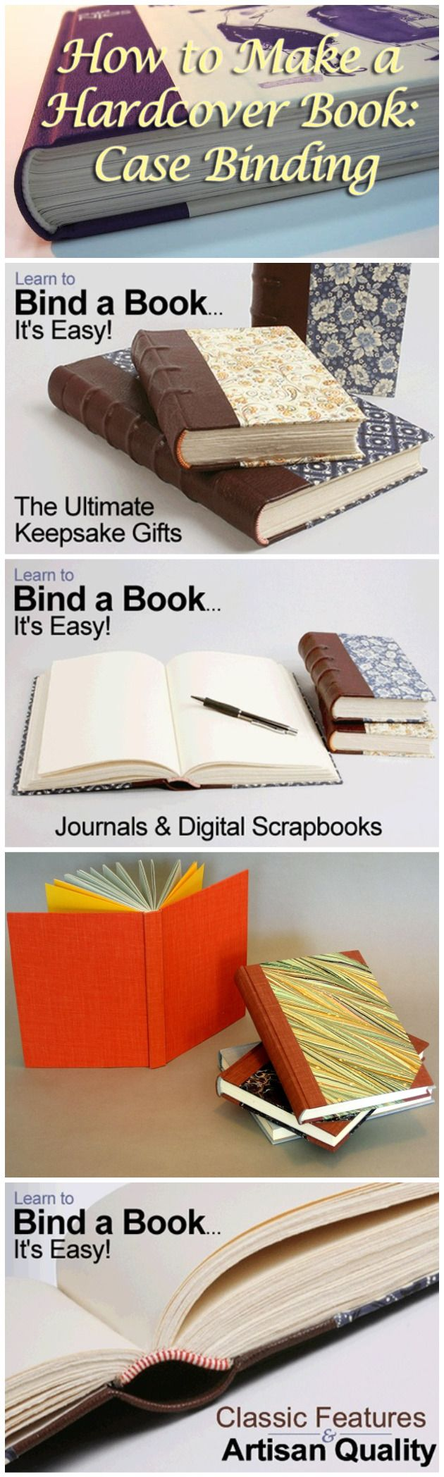 How To Make A Hardcover Book ~ Best images about book binding on pinterest