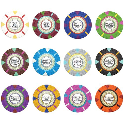 The Mint 13.5 gram clay composite Poker Chips.