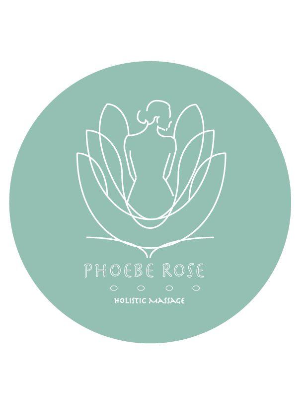 LOGO design for Phoebe Rose Holistic Massage ::: #logo #graphics #jessicarosheen