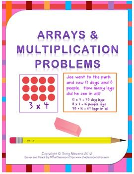 1000 images about arrays on pinterest 3rd grade math activities and multiplication and division. Black Bedroom Furniture Sets. Home Design Ideas