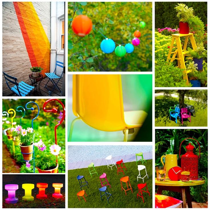 De #tuintrend van #2013: is een #tuin met #felle, #neon kleuren. #Bonte #tuinaccessoires en #opvallend #gekleurde #tuinmeubels maken de #tuin helemaal #vrolijk en van deze tijd!
