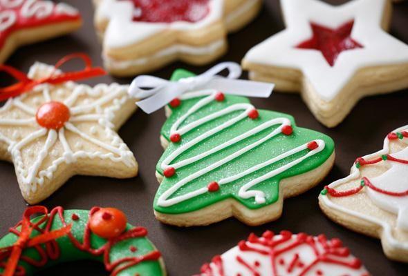 Χριστουγεννιάτικα μπισκότα με γλάσο