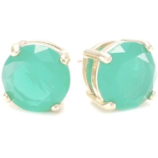 KATE SPADE GUMDROP GOLD FILLED MINT GREEN STUD EARRINGS NWT, when I was at TJ Max today I found an identical pair for $15