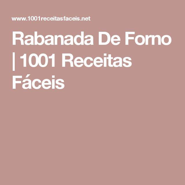 Rabanada De Forno   1001 Receitas Fáceis