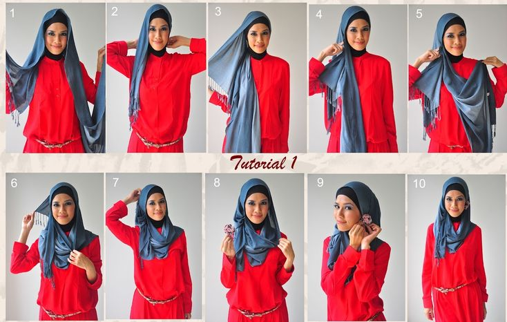 Latest Hijab Styles & Designs Tutorial with Pictures for Modern Girls 2015  (1)