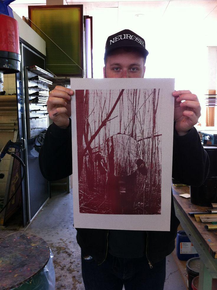 Silkscreen Printed Poster for the Band O by yves Lennertz (helloyves) facebook.com/otheband // otheband.tumblr.com